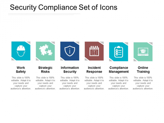 Security Compliance Set Of Icons Ppt PowerPoint Presentation Infographics Graphics Tutorials