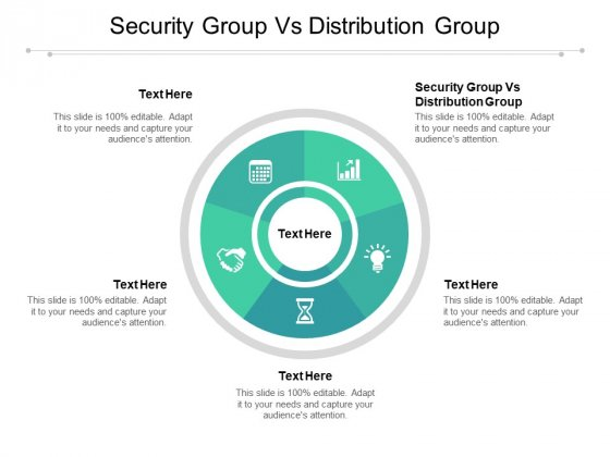 Security Group Vs Distribution Group Ppt PowerPoint Presentation Ideas Format Ideas Cpb Pdf