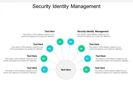 Security Identity Management Ppt Powerpoint Presentation Pictures Portrait Cpb