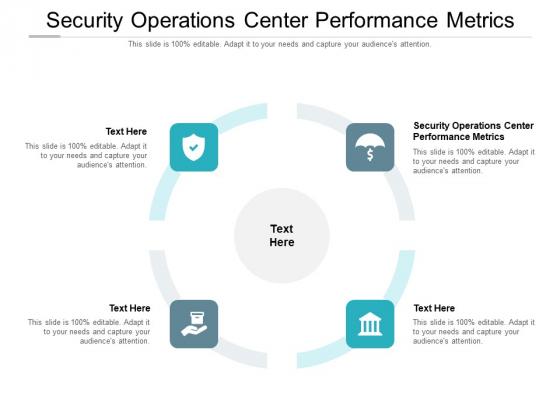 Security Operations Center Performance Metrics Ppt PowerPoint Presentation Ideas Mockup Cpb Pdf