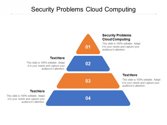 Security Problems Cloud Computing Ppt PowerPoint Presentation Infographic Template Picture Cpb