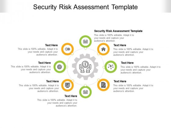 Security Risk Assessment Template Ppt PowerPoint Presentation Show Sample Cpb Pdf