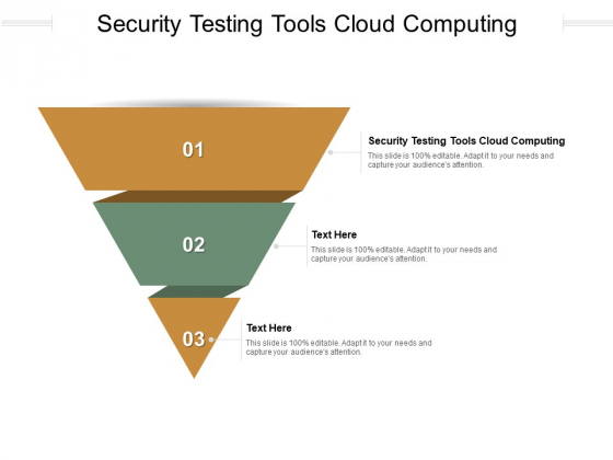 Security Testing Tools Cloud Computing Ppt PowerPoint Presentation Model Example File Cpb Pdf