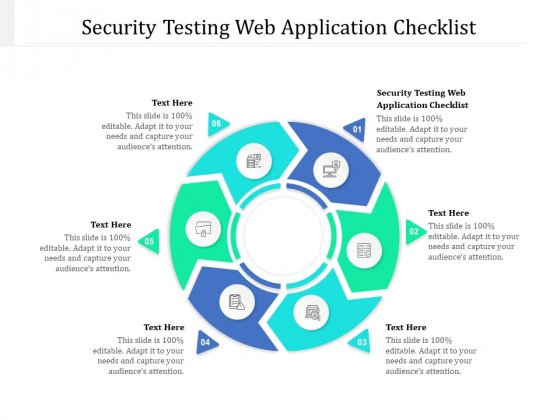Security Testing Web Application Checklist Ppt PowerPoint Presentation Pictures Tips Cpb Pdf