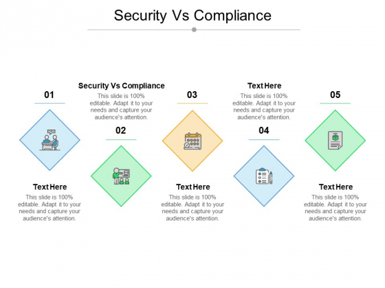 Security Vs Compliance Ppt PowerPoint Presentation Ideas Background Images Cpb Pdf