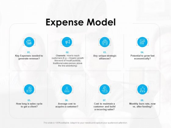 Seed Growth Investing Expense Model Ppt PowerPoint Presentation Layouts Icon