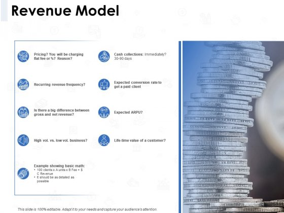 Seed Investment Revenue Model Ppt Show Visuals PDF