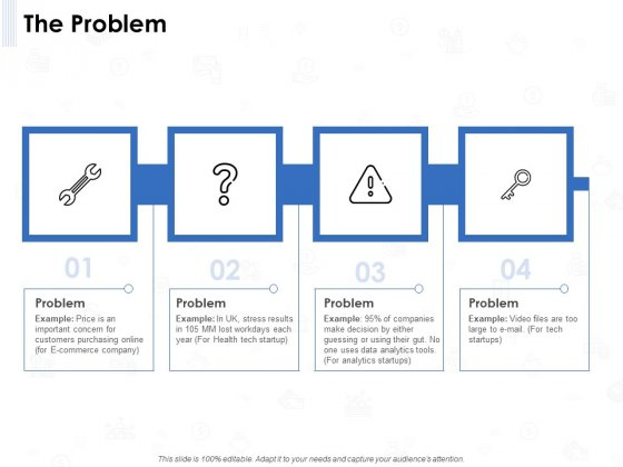 Seed Investment The Problem Ppt Model Background Designs PDF