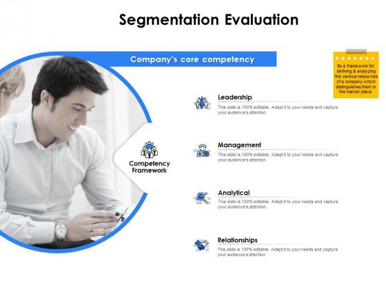 Segmentation Of B2B Markets Segmentation Evaluation Leadership Ppt PowerPoint Presentation Summary File Formats PDF