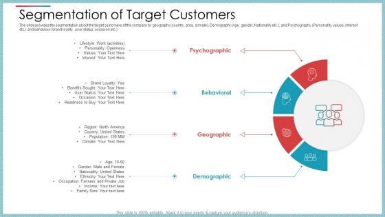 Segmentation Of Target Customers Ppt Gallery Sample PDF