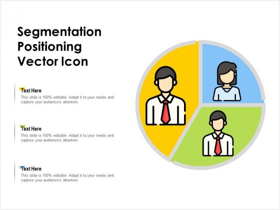 Segmentation Positioning Vector Icon Ppt PowerPoint Presentation Professional Master Slide