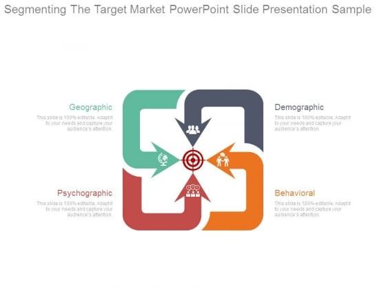 Segmenting The Target Market Powerpoint Slide Presentation Sample