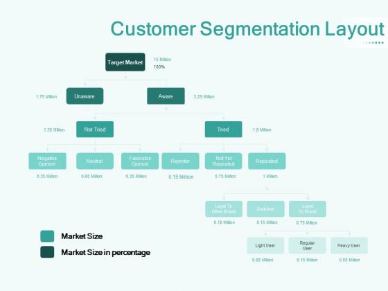 Segmenting User Market Customer Segmentation Layout Ppt PowerPoint Presentation Professional Graphics Download PDF