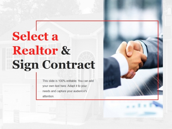 Select A Realtor And Sign Contract Template 2 Ppt PowerPoint Presentation File Objects
