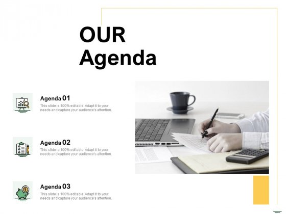 Selecting Media Outlets Our Agenda Ppt Gallery PDF