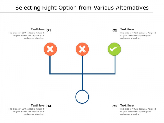 Selecting Right Option From Various Alternatives Ppt PowerPoint Presentation Styles Images PDF