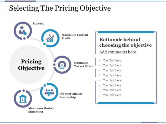 Selecting The Pricing Objective Ppt PowerPoint Presentation Gallery Portrait