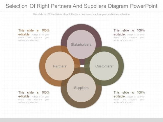 Selection Of Right Partners And Suppliers Diagram Powerpoint