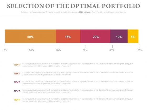 Selection Of The Optimal Portfolio Chart Ppt Slides