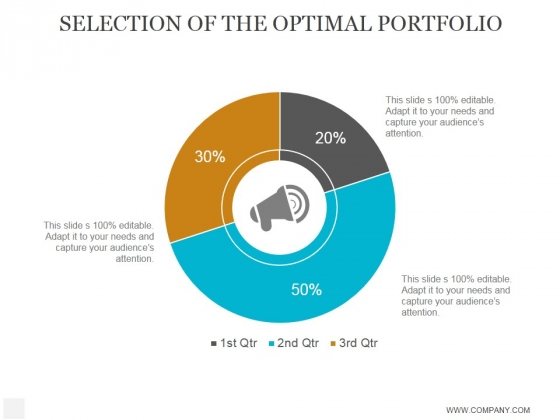 Selection Of The Optimal Portfolio Ppt PowerPoint Presentation Introduction