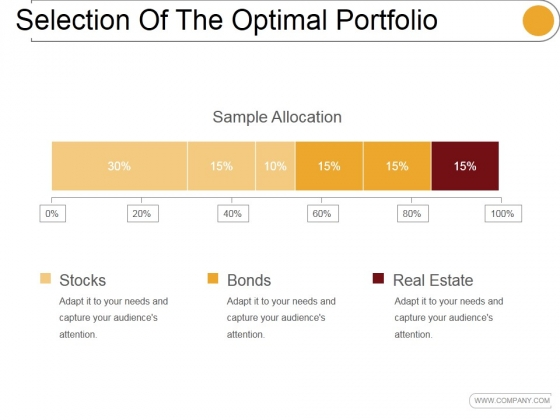 Selection Of The Optimal Portfolio Template 1 Ppt PowerPoint Presentation Inspiration
