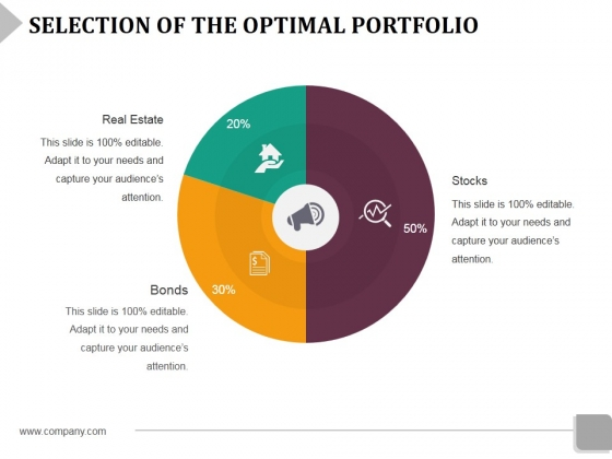Selection Of The Optimal Portfolio Template 2 Ppt Powerpoint Presentation Infographic Template Example File