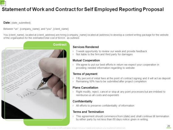 Self_Employed_Reporting_Proposal_Ppt_PowerPoint_Presentation_Complete_Deck_With_Slides_Slide_20