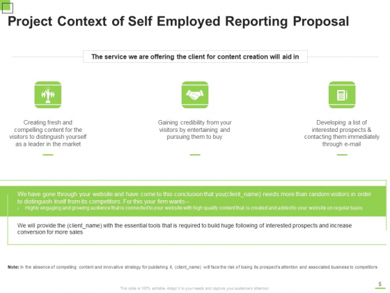 Self_Employed_Reporting_Proposal_Ppt_PowerPoint_Presentation_Complete_Deck_With_Slides_Slide_5