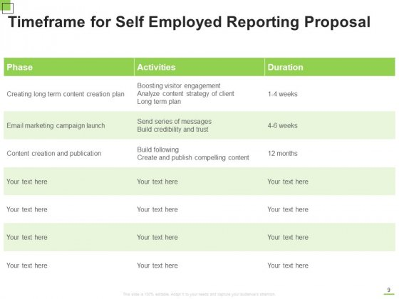 Self_Employed_Reporting_Proposal_Ppt_PowerPoint_Presentation_Complete_Deck_With_Slides_Slide_9