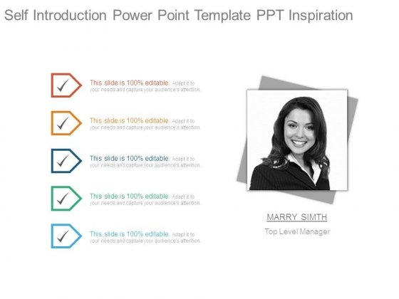 Self Inroduction Power Point Template Ppt Inspiration