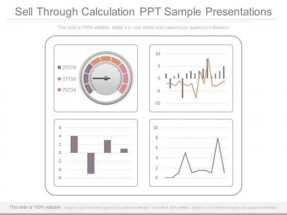 Sell Through Calculation Ppt Sample Presentations