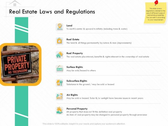 Selling Home Property Real Estate Laws And Regulations Ppt Visual Aids Infographic Template PDF