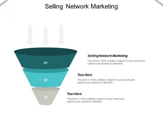 Selling Network Marketing Ppt PowerPoint Presentation Portfolio Master Slide