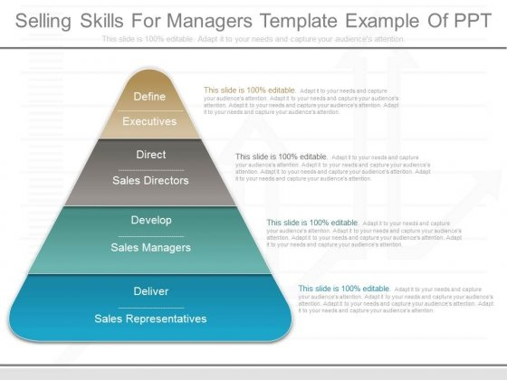 Selling Skills For Managers Template Example Of Ppt