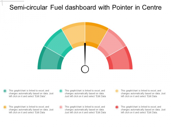 Semi Circular Fuel Dashboard With Pointer In Centre Ppt PowerPoint Presentation Outline Visuals
