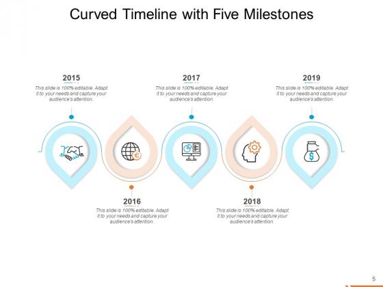 Semicircle_Timeline_Curved_Five_Milestones_Ppt_PowerPoint_Presentation_Complete_Deck_Slide_5