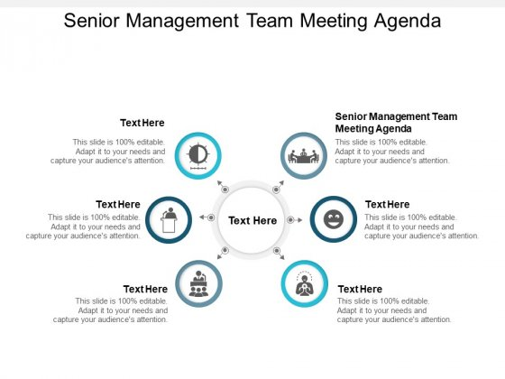 Senior Management Team Meeting Agenda Ppt PowerPoint Presentation Outline Example File Cpb