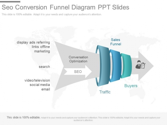 cw three staged funnel diagram with icons flat powerpoint design, Modern powerpoint