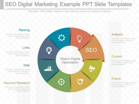 Seo Digital Marketing Example Ppt Slide Templates