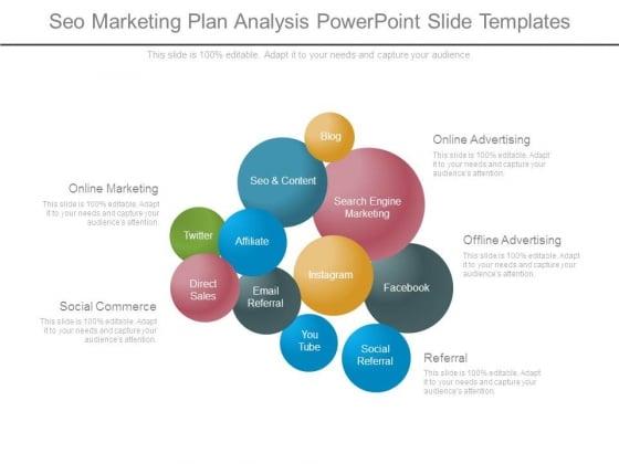 Seo Marketing Plan Analysis Powerpoint Slide Templates