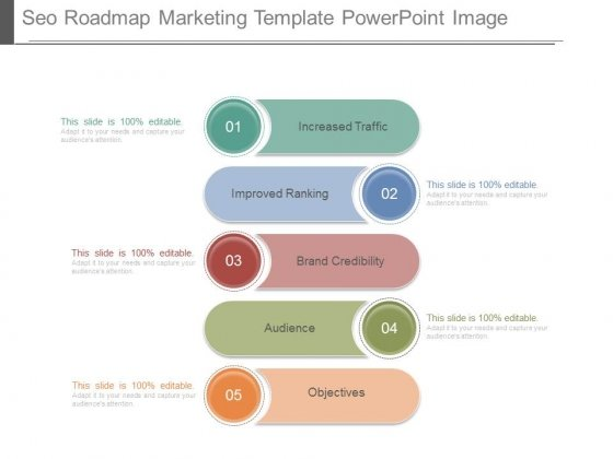Seo Roadmap Marketing Template Powerpoint Image