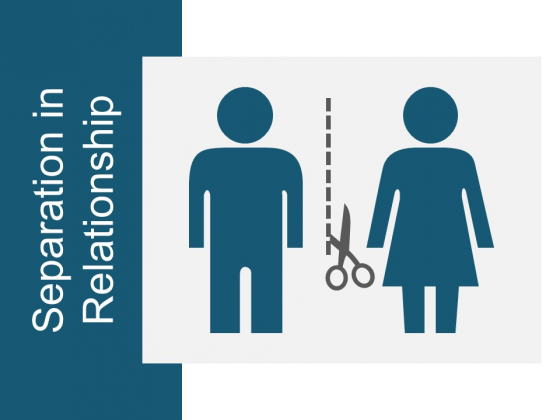 Separation In Relationship Ppt Powerpoint Presentation Professional Good