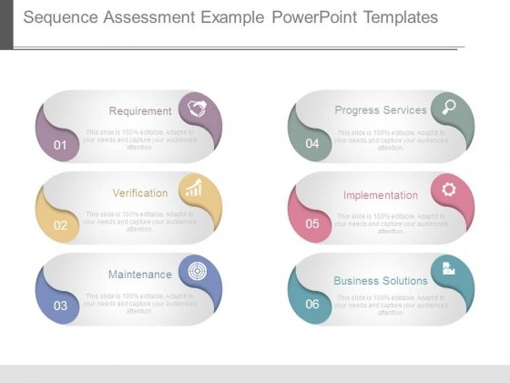 Sequence Assessment Example Powerpoint Templates