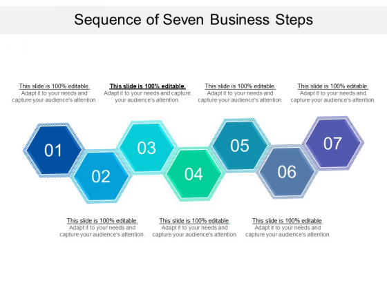 Sequence Of Seven Business Steps Ppt PowerPoint Presentation Gallery Ideas