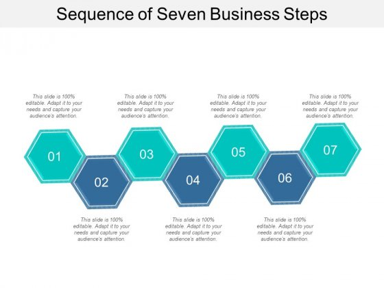 Sequence Of Seven Business Steps Ppt PowerPoint Presentation Layouts Rules