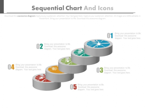 Sequential Chart With Financial Management Icons Powerpoint Template