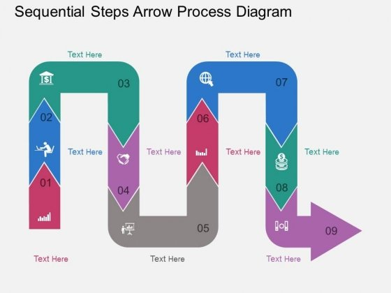 Sequential Steps Arrow Process Diagram Powerpoint Template