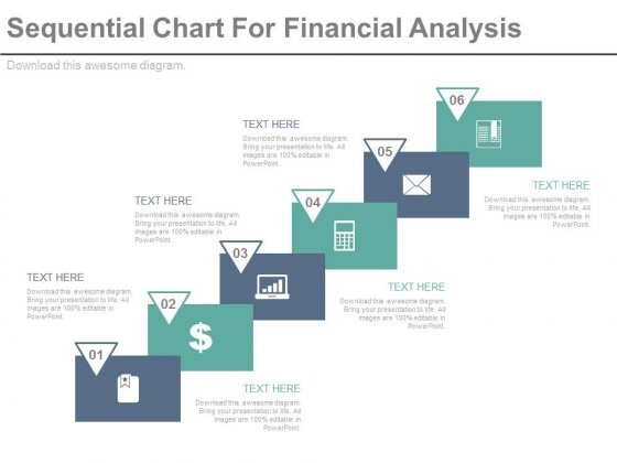 Sequential Steps Chart For Data Analysis Powerpoint Slides
