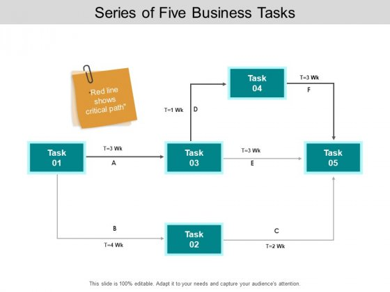 Series Of Five Business Tasks Ppt PowerPoint Presentation Pictures Information