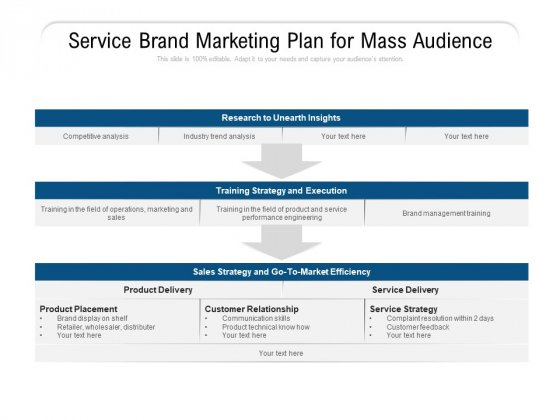 Service Brand Marketing Plan For Mass Audience Ppt PowerPoint Presentation Gallery Backgrounds PDF